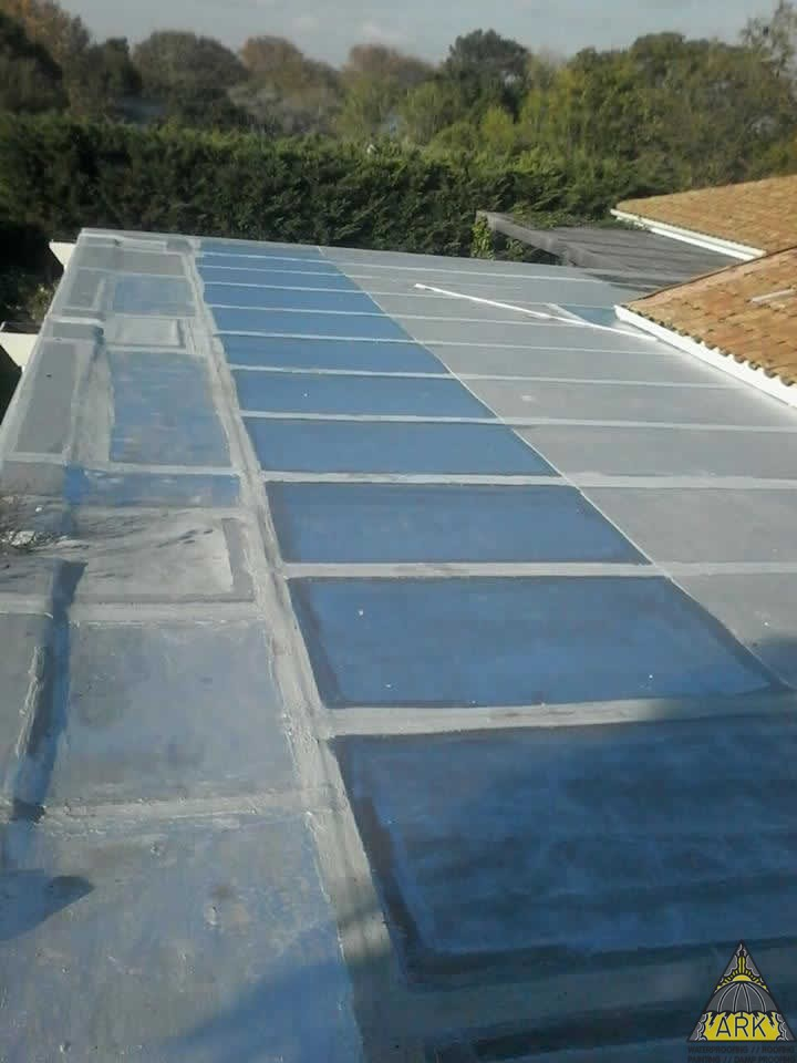 Torch On Flat Roof Refurbishment Applied Liquid Rubber