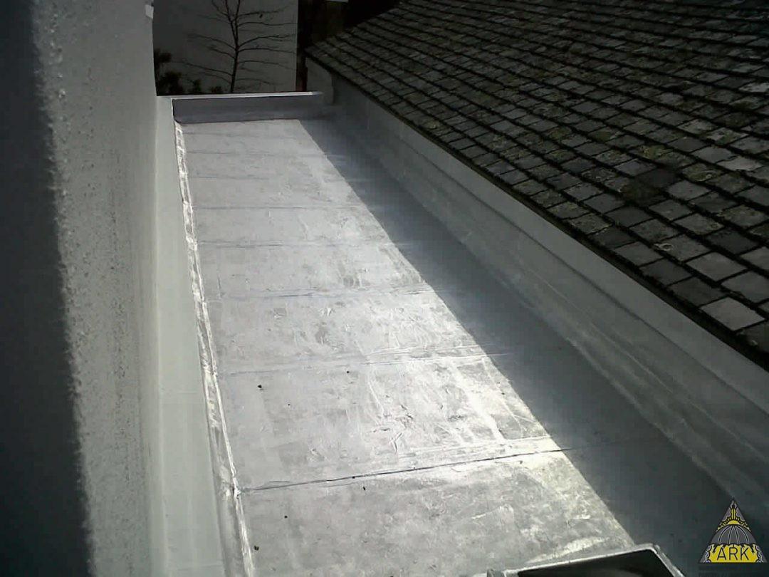 Flat Roof Waterproofing Waterproofed Parpet Walls