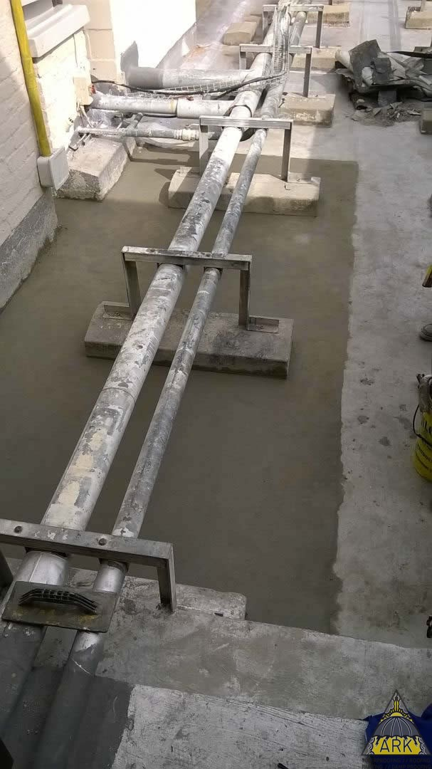 Waterproofing, patch repairs, torch on