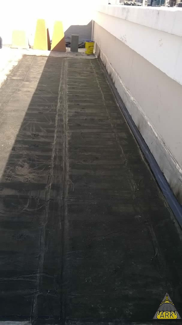 Flat Roof Waterproofing Patch Repairs Strip Screed With