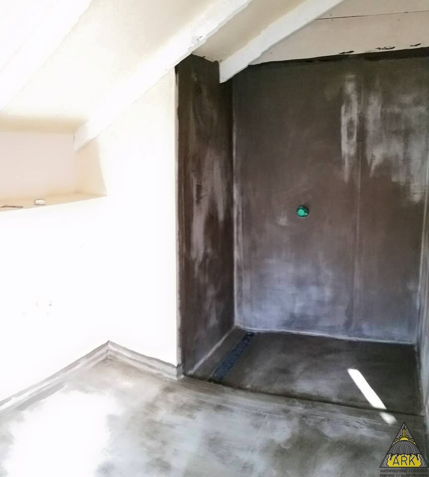 Aquatex Damp Proofing Systems Waterproof Wall Paints: Waterproofing 2 Bathrooms On Wood, Tile Safe Self, Adhesive Bitumen System With Hydroflex
