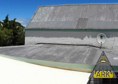 Corrugated re roof.