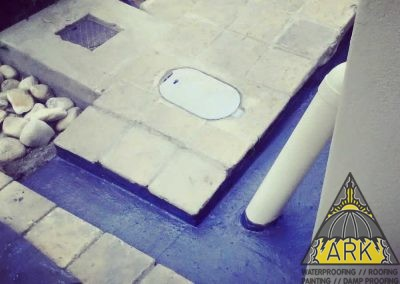 Cementitious Waterproofing System with Polyflet membrane.