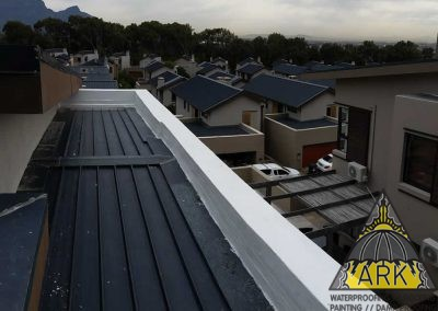 Waterproofing of parapet walls.