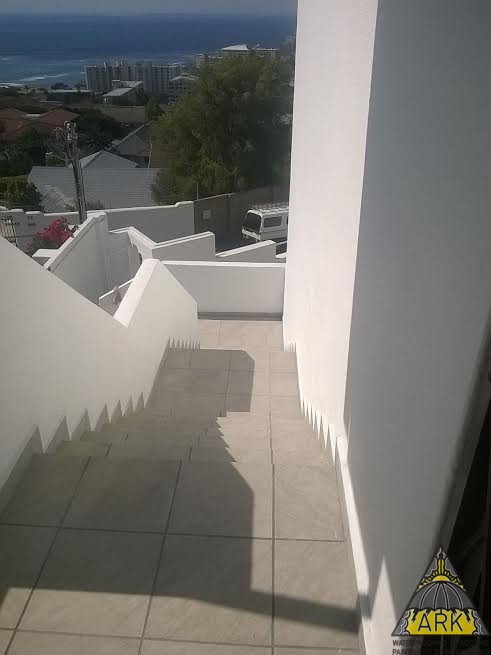 Waterproofing a staircase.