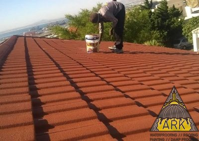 Tiled roof redecoration.