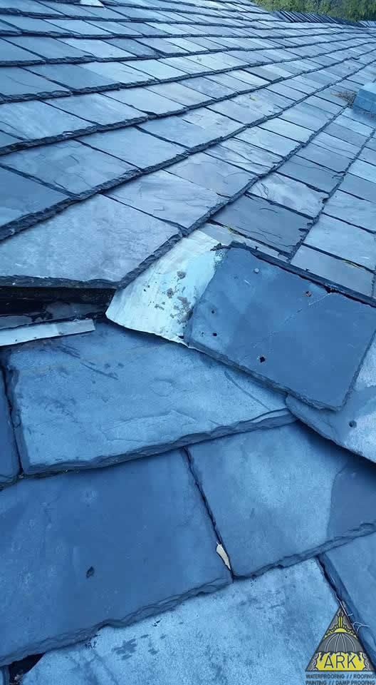 Slate Roof Repair Roofing Project Ark Waterproofing