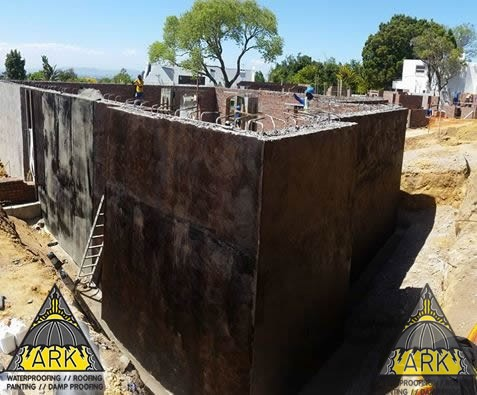 Retaining wall waterproofing – tanking.