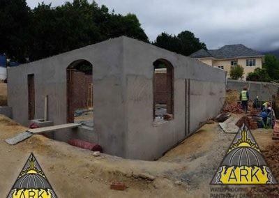 Retaining wall waterproofing - Bishops Court