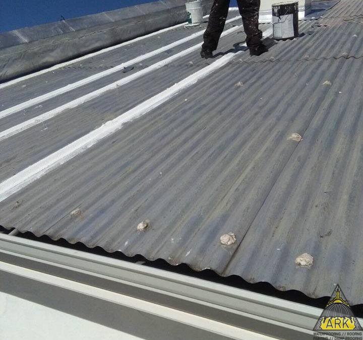 Metal roof repairs.